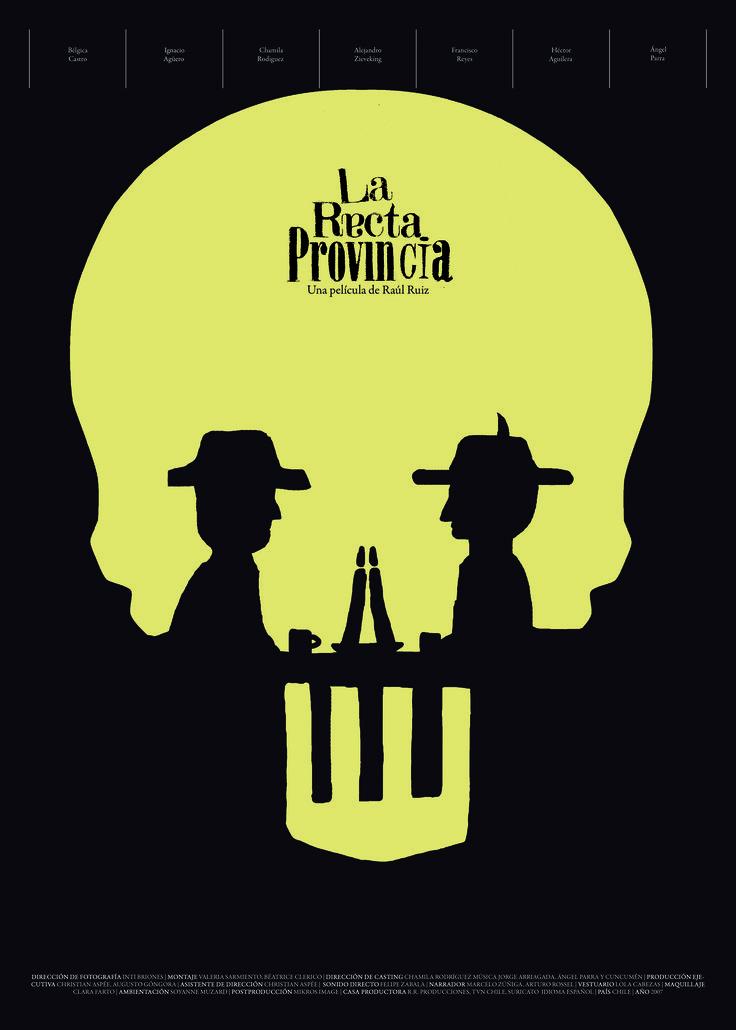 """Afiche figura y fondo """"la recta provincia"""""""
