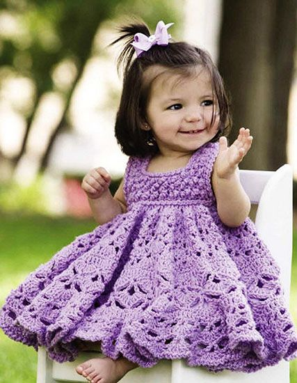 Craft Passions: Frilly dress .# free #crochet pattern link here