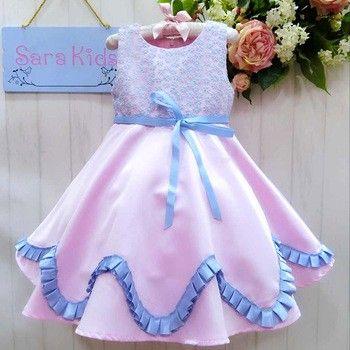 Hopscotch   Buy Pretty Frocks Cute Sleeveless Ballerina Dress - Multi on Hopscotch.in in India
