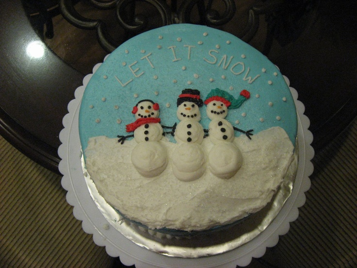 Snowman Cake Made For My School Luncheon Got The Idea From Wilton