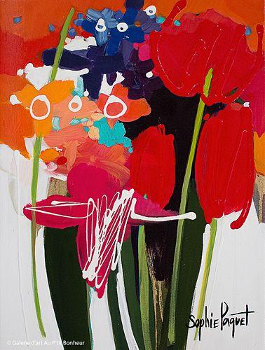 Sophie Paquet, 'All This Love!', 12'' x 16'' | Galerie d'art - Au P'tit Bonheur - Art Gallery