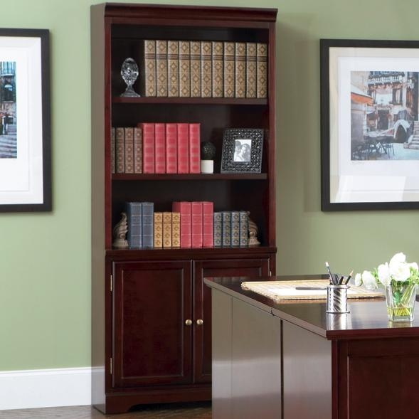 Lawrenceville Open Bookcase with Storage Base Cabinet by Coaster - Furniture Outlet - Bookcase - 2 Pc. with Hutch  No tiene precio pero es en California
