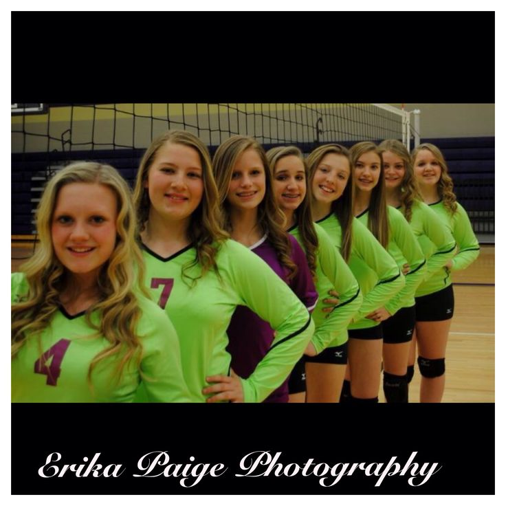 Volleyball Team Photography #volleyball #photography #ErikaPaigePhotography