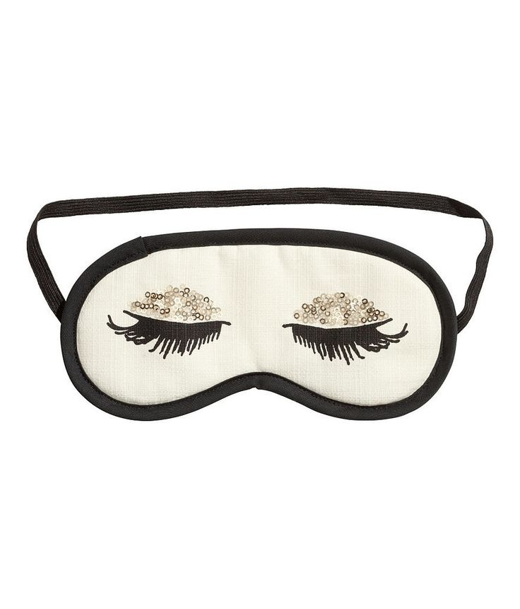 Channel Audrey Hepburn with this long-lashed sleep mask ($7).