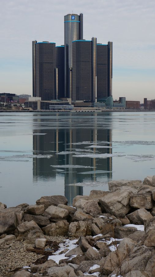 Detroit. It looks so beautiful and peaceful in this picture. I think Detroit is beautiful all the time though.
