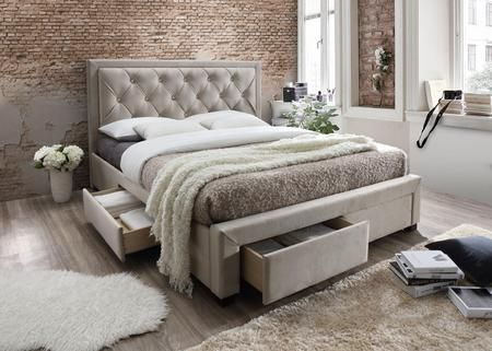 Best Erin Collection Queen Size Platform Bed With 4 Drawers 400 x 300