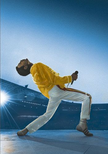 Freddie Mercury. Queen live at Wembley Sadium July 11, 1986