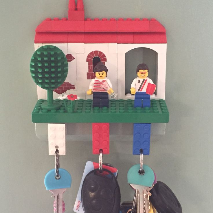 Lego key holder I made for our home x x