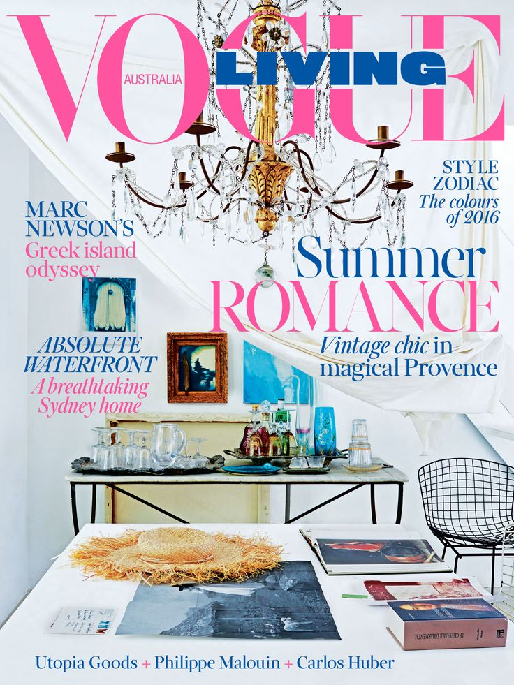 The January February 2016 Issue Of Vogue Living Is On Sale Now Cover Inside French Home British Artist And Textile Designer Carolyn