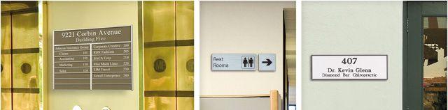 Custom office door signs