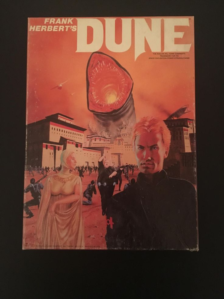 The Dune board game published by Avalon Hill in 1979. A recent eBay score!