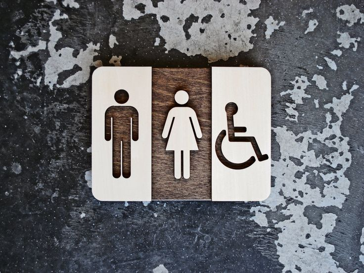 Unisex Bathroom Signs ada restroom signs Unisex Restroom Sign Unique Bathroom Decor Modern Interior Design 6 X 8