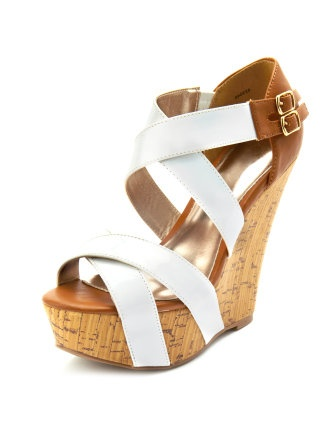 : White Shoes, Fashion, Wedges Heels, Corks Wedges, Cute Wedges, Charlotte Russe, Wedges Sandals, Summer Wedges, White Wedges Shoes
