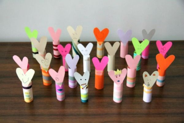 toilet paper roll valentine craft - Google Search