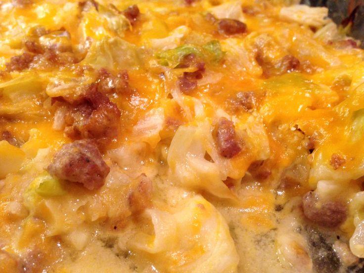 Creamy cheesy cabbage casserole