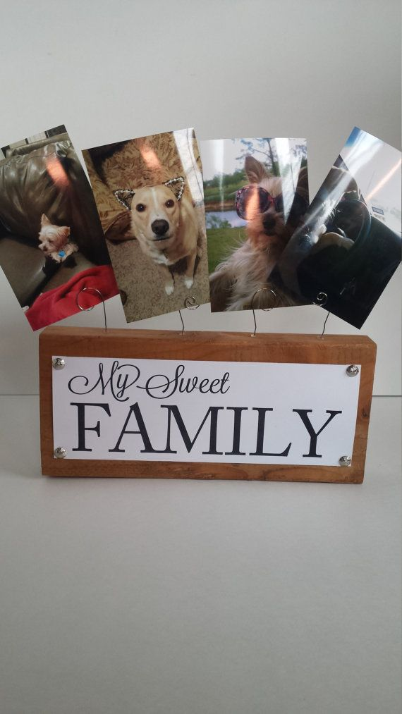wire picture holder with signs by on etsy