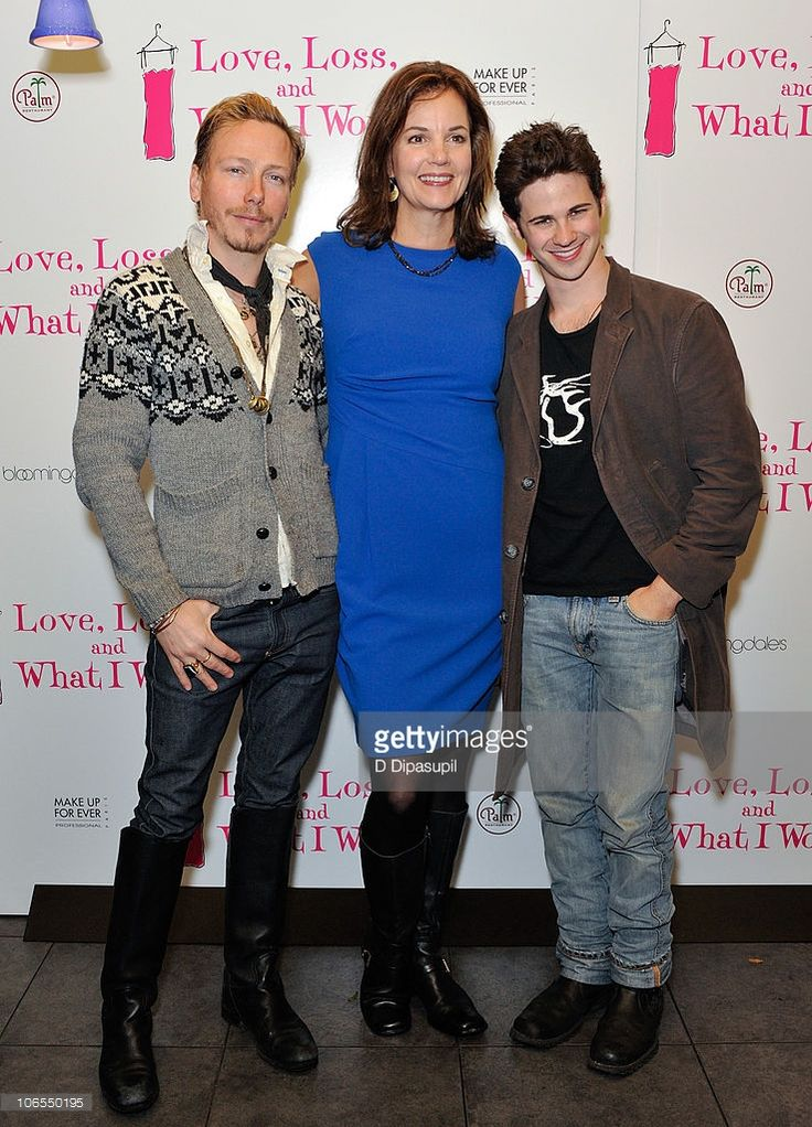 Costume designer Eric Daman, actress Margaret Colin, and actor Connor Paolo attend the after party for the new cast of 'Love, Loss, And What I Wore' at L'allegria on November 4, 2010 in New York City.