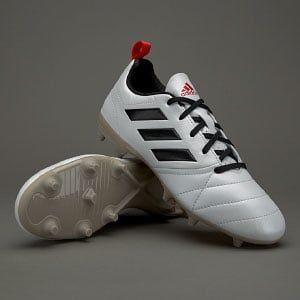 adidas ACE 17.4 FG para mujer- Blanco/Negro/Rojo #futbolmujer