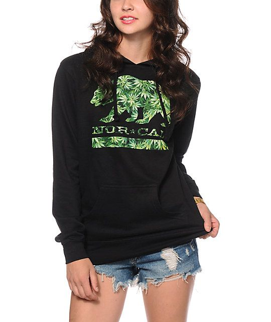 Keep your style blazin with the California flag inspired bear graphic with weed fill printed on a warm and comfortable pullover hoodie.