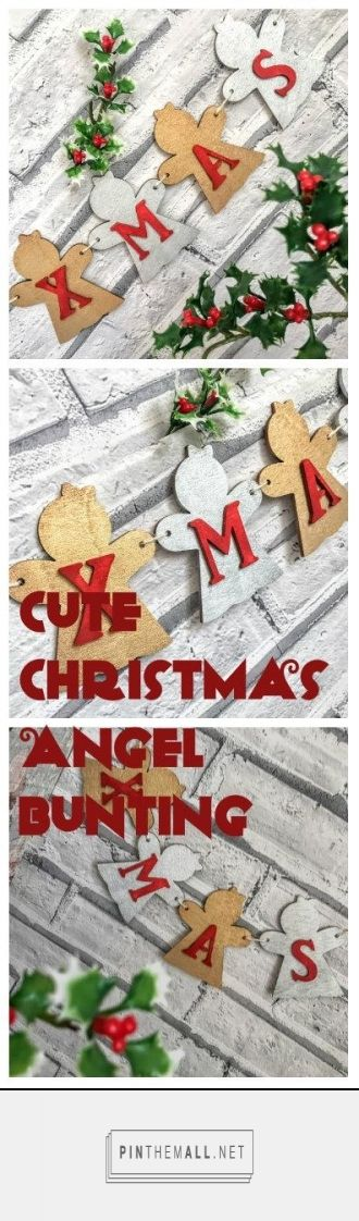 Personalised Christmas bunting|Christmas decorations|Christmas ornaments|Christmas gifts|Christmas ideas - created via https://pinthemall.net