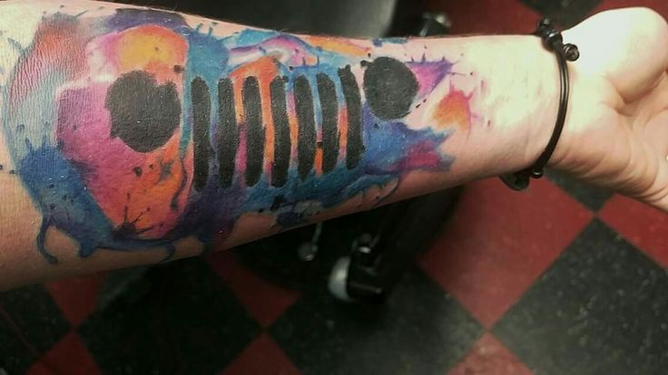 Watercolor Jeep Tattoo