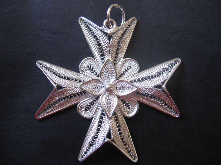 Beautiful filigree Maltese cross