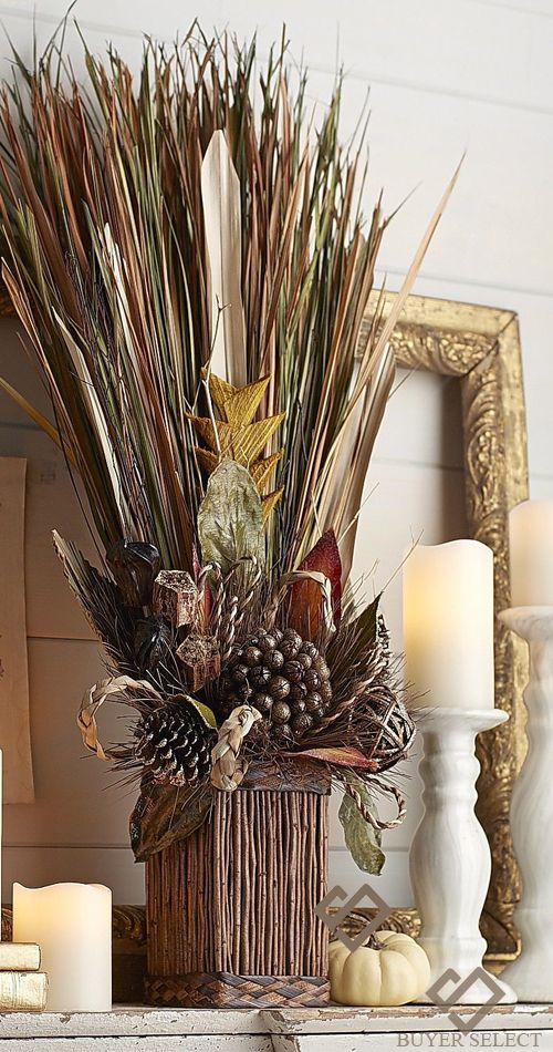 Natural grass fall home decor fall decor pinterest for Nature decor