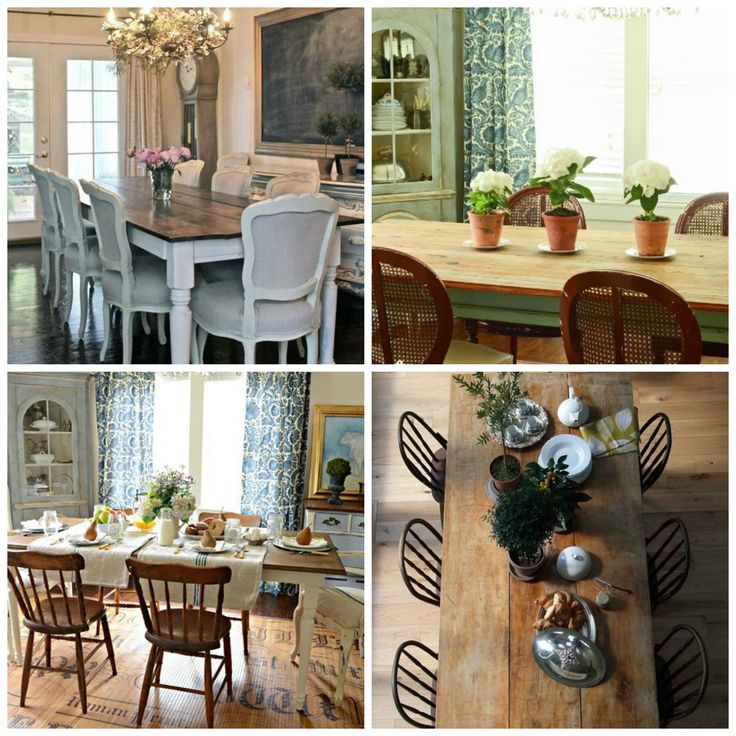 Whether it's a rustic and warmly patina'd table, or one painted and chippy - the Farmhouse Table is the heartbeat of the kitchen. Check out 10 DIY ideas.