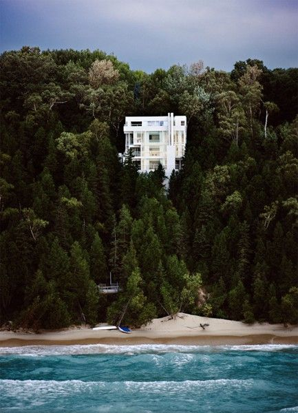 Sigh.: White Houses, Dreams Houses, Dreams Home, Richardmeier, The Ocean, Cars Girls, Lakes Michigan, Beaches Houses, Richard Meier