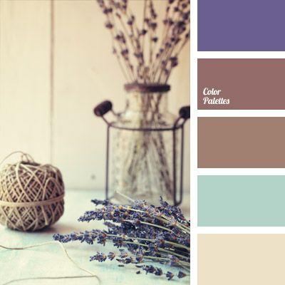 Der Frühling im Norden — Lavendel und Heidekraut — ist diskret, aber lebendig und zart. Diese Farbpalette, die zwei Blautöne und drei kalte Schattierungen.