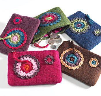 felt purse