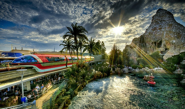 want to go back disneyland monorail matterhorn findingnemo hdr
