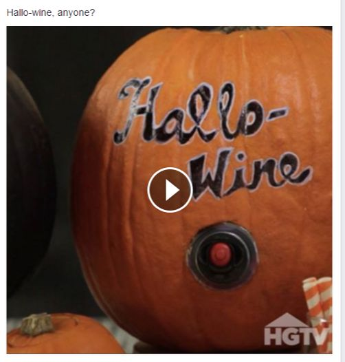 Hallow Wine - Use a hollowed out pumpkin as a wine or any other drink dispenser