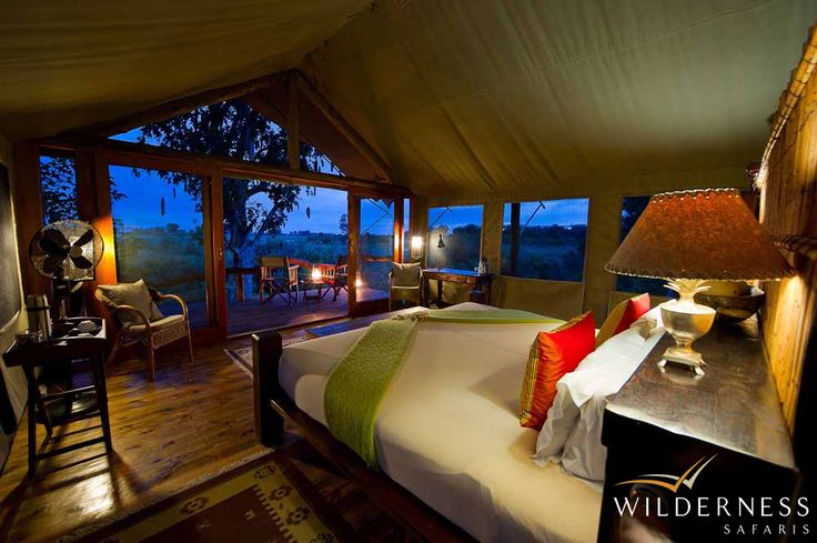 Tubu Tree Camp - Located on Hunda Island, the largest area of permanently dry land in this region of the Okavango Delta. #Safari #Africa #Botswana #WildernessSafaris
