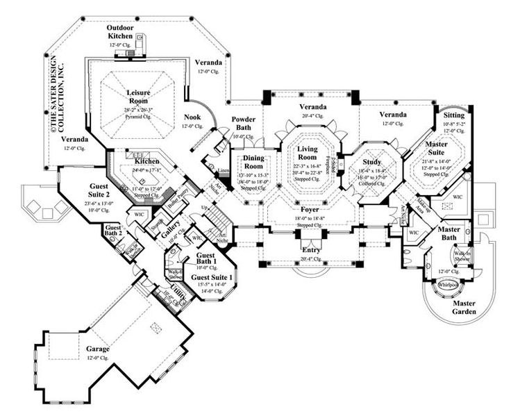 Home Plans With Guest House 312 best mediterranean house plans - the sater design collection
