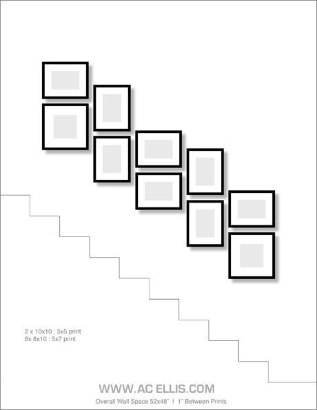 Image result for staircase artwork display