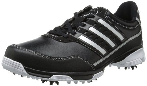 Cloudfoam sockliner on these mens golflite traxion golf shoes by Adidas provides ultra-light cushioning and comfort