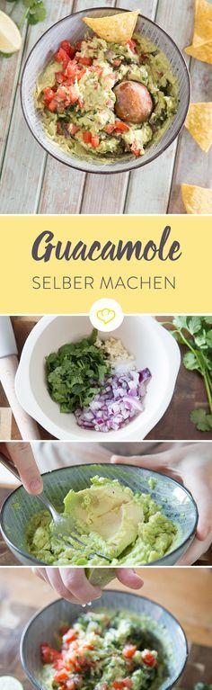 Ein assender Dip für Tortilla Chips und Co. gesucht? Guacamole – frisch, lecker und echt mexikanisch - und mit unserem Rezept gelingt sie gleich beim ersten Mal!