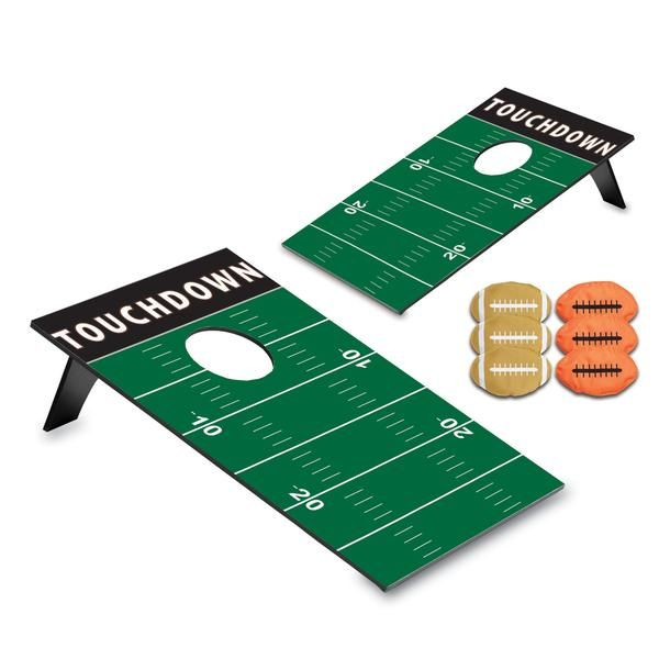 This is the PERFECT game for tailgating!  And how cool is it that these 2 boards fold flat and come with a carrier that you can throw over your shoulder for easy toting to games, parks and BBQ's?