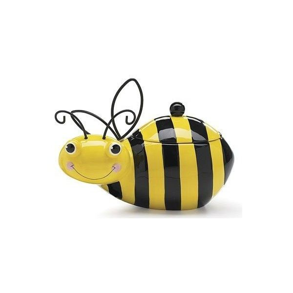 Good Honey\ Bee Honey Bumble Bee Cookie Storage Jar (39 SGD) Found On Polyvore