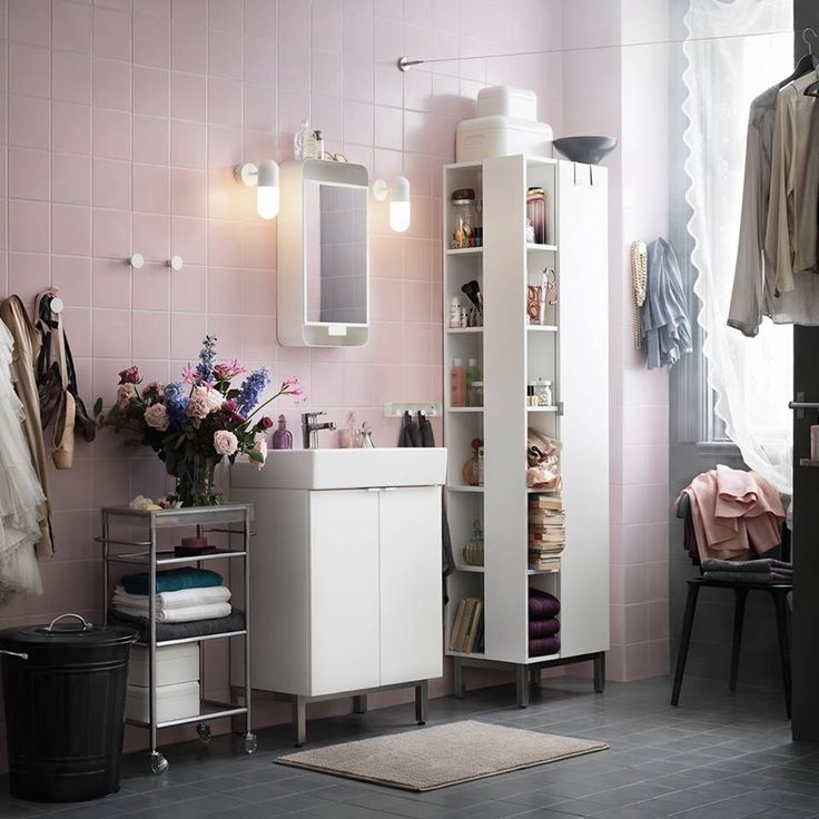 lill ngen ikea badet pinterest rosa och svart. Black Bedroom Furniture Sets. Home Design Ideas