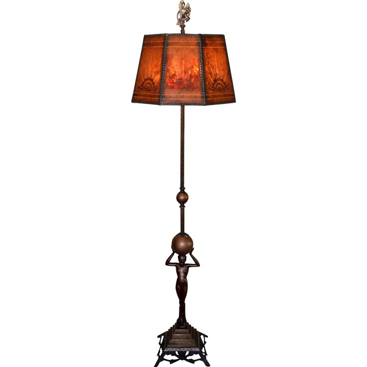 110 best robs lamps images on pinterest lamps light fixtures art deco nude figural floor lamp with period decorated mica shade aloadofball Choice Image