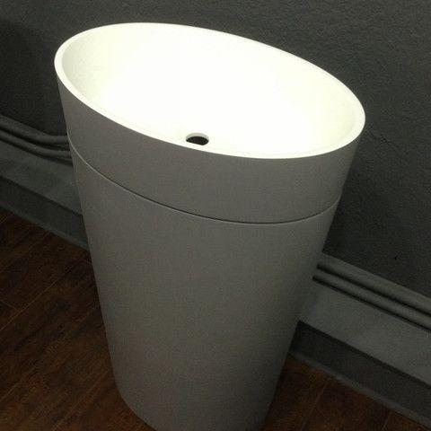 "Oval Free Standing Sink - 24"" x 16"" - ADM Bathroom Design"