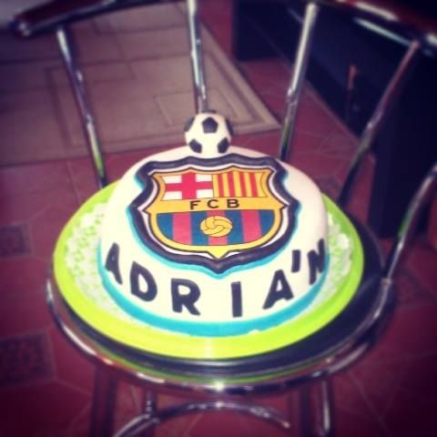 FCB Barcelona football cake