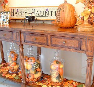 Love the jars w fall veggies