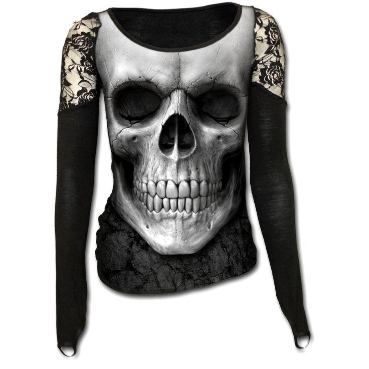 photo n°1 : Haut dark wear femme SPIRAL' solemn skull'