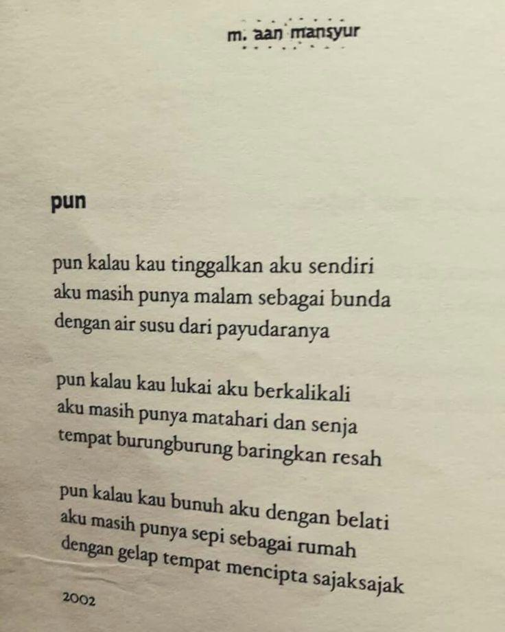 Pun by Aan Mansyur.