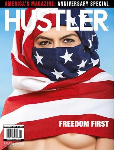 Thoughts on this Hustler magazine cover? What kind of statement is Larry Flynt making?