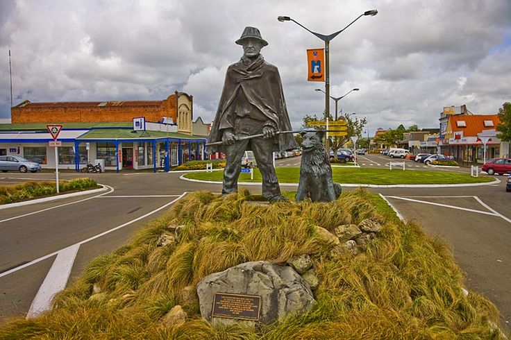 A grumpy looking shepherd greets you as you enter Feilding,  see more at New Zealand Journeys app for iPad www.gopix.co.nz