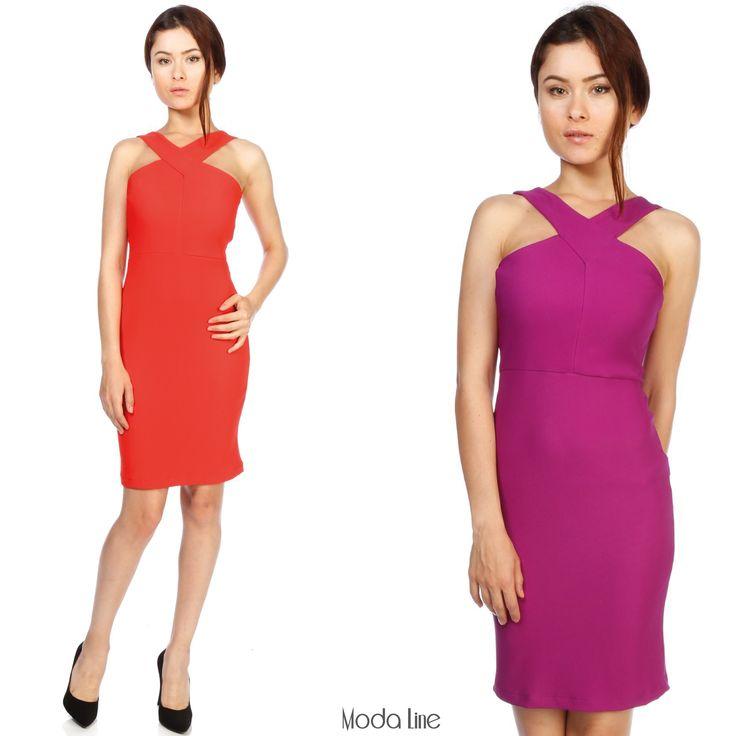 Önü çapraz elbise #modalinepark'ta! Ürüne ulaşmak için : http://goo.gl/ym6Z0H